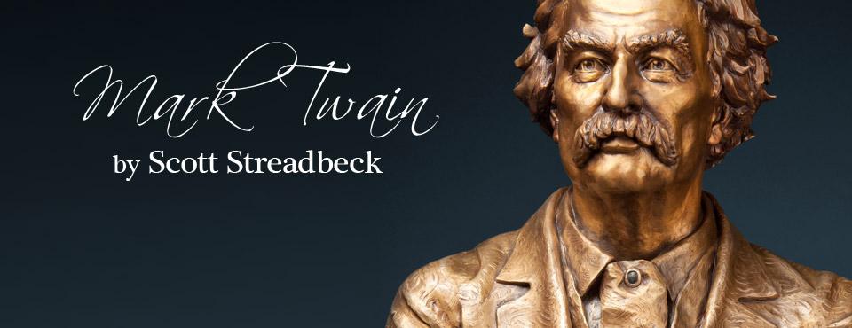 Mark Twain Sculpture