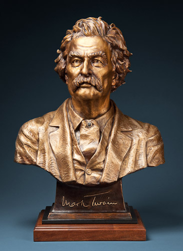 Mark twain sculpture alpine art gallery